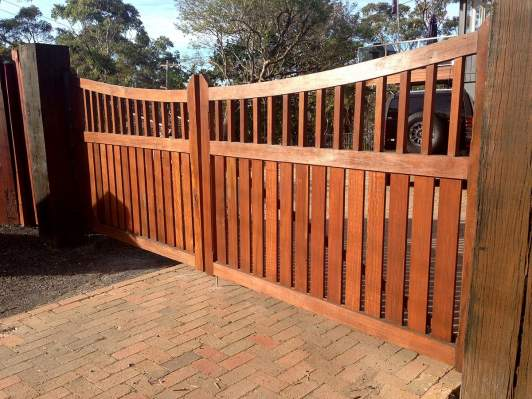 Stained Timber Gates