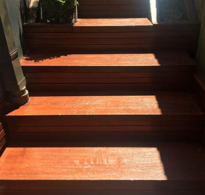 Stained Timber Steps