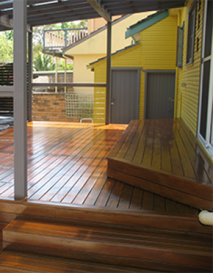 Sanded & Stained Timber Decking