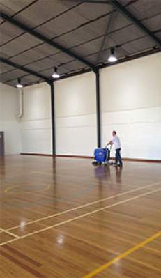 Sports Court Timber Floor Polishing