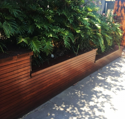 Stained Timber Slats