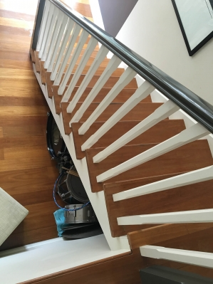 Stair Sanding and Finishing