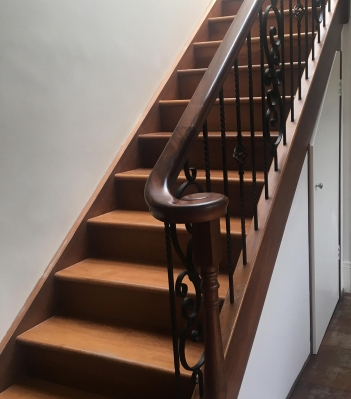 Wood Stain Stairs